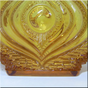 Oberglas Austrian textured amber glass vase. Sometimes mistaken as Whitefriars.
