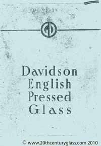 George Davidson 1940 glass catalogue.