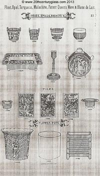Sowerby 1882 glass catalogue, page 11