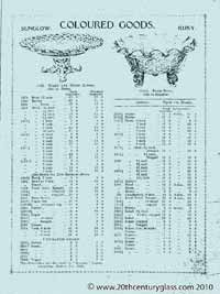 Sowerby 1927 glass catalogue, page 19