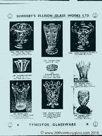 Sowerby 1954 glass catalogue, page 2