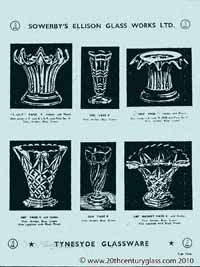 Sowerby 1954 glass catalogue, page 3