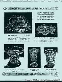 Sowerby 1954 glass catalogue, page 4