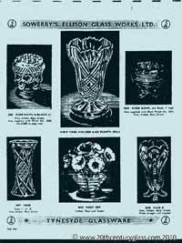 Sowerby 1954 glass catalogue, page 5