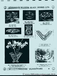 Sowerby 1954 glass catalogue, page 6