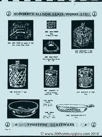 Sowerby 1954 glass catalogue, page 9