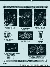 Sowerby 1954 glass catalogue, page 19