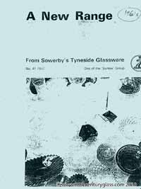 Sowerby glass catalogue - list 41.