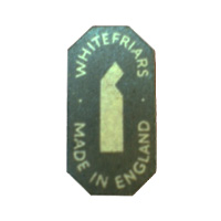 Whitefriars English glass paper label.