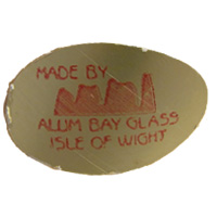 Alum Bay Isle of White Glass English glass foil label.