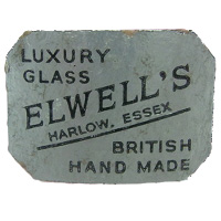 Elwell's foil retail label, found on Nazeing glass.