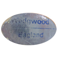 Wedgwood Glass English glass foil label.