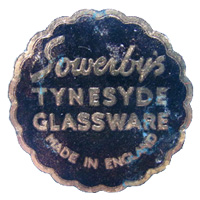 Sowerby Tynesyde Glassware paper label.