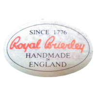 Royal Brierley English glass paper label.