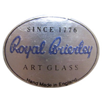 Royal Brierley English glass foil label.