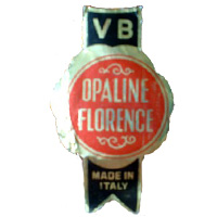 V.B. Opaline Florence Italian glass paper label.