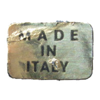 Generic Made in Italy glass foil label.