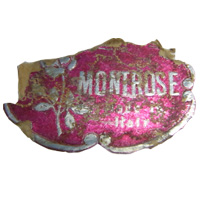 """Montrose Made in Italy"" import label found on Empoli glass."