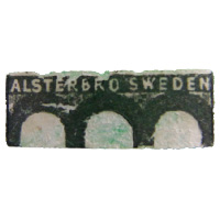 Alsterbro Swedish glass paper label.