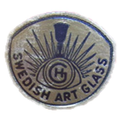 Silver foil Hans Geismar HG Swedish Art Glass import label