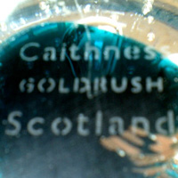 Caithness acid etched marking.