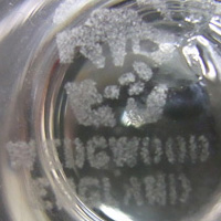 Wedgwood acid etched marking.
