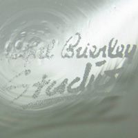 Royal Brierley acid etched marking from Studio range.