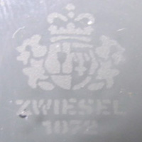 Schott Zwiesel acid etched marking.