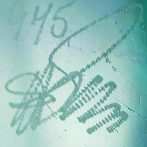 Embossed Dartington Glass Marks