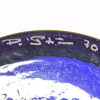 P Strom (Per-Olaf Strom) signature on Alsterfors vase.