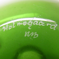 Holmegaard signature by Michael Bang.
