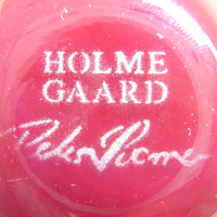 Holmegaard acid etched signature by Peter Svarrer.