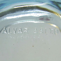 Alvar Aalto embossed mark for Iittala.