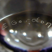 Ernest Gordon signature for Kosta.