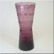 Alsterfors Swedish purple glass textured vase.