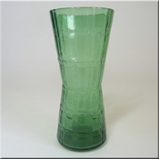 Alsterfors Swedish green glass textured vase.
