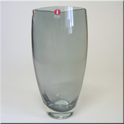 Iittala smokey + clear glass 'Leia' vase, 170mm tall, designed by Tina Nordström in 1996, pattern number 2785, labelled.