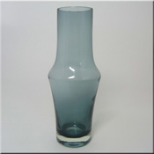 Riihimäen Lasi Oy / Riihimaki smokey glass vase, design number 1376, 250mm tall.