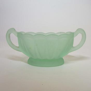 Bagley #3173 Art Deco Frosted Green Glass 'Evesham' Bowl