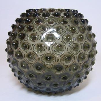 Borske Sklo 1950's Smoky Glass Spherical 'Bobble' Vase