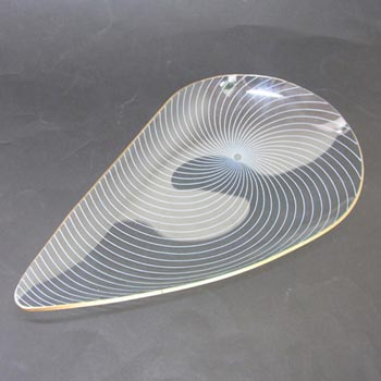 Chance Bros Glass 'Swirl' Teardrop Bowl 1950's/60's
