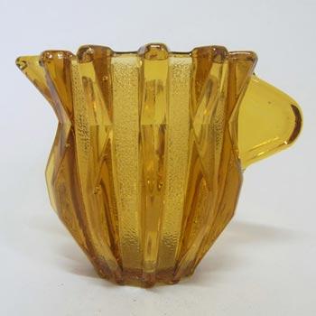 Stölzle Czech Art Deco 1930s Amber Glass Jug/Creamer