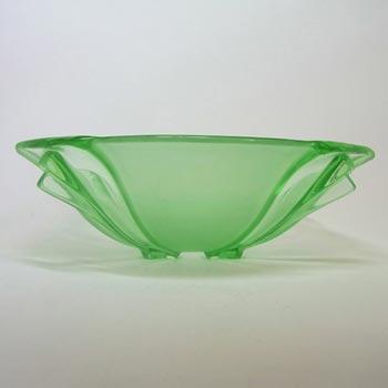 Stölzle #19251 Czech Art Deco 1930's Uranium Green Glass Bowl