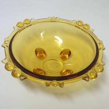 Sowerby #2644 Art Deco 1930's Amber Glass Bowl/Dish
