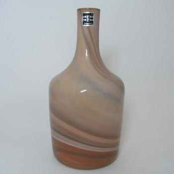 Elme Scandinavian Brown Glass 'Sandstorm' Vase Labelled