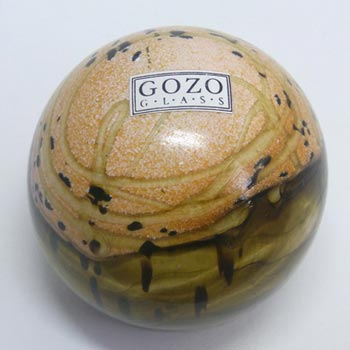 Gozo Glass 'Seashell' Paperweight - Signed + Labelled