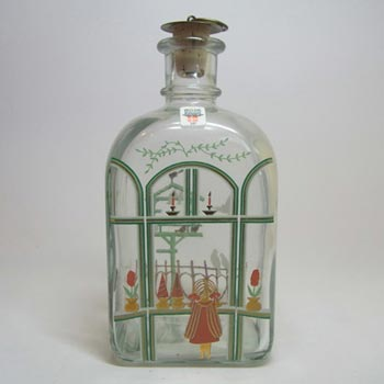 Holmegaard Glass 'Christmas' Decanter by Michael Bang