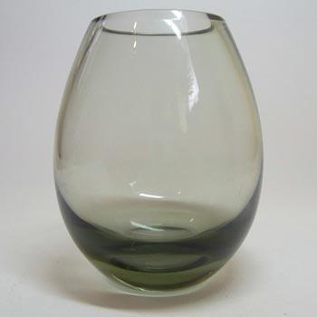 Holmegaard #15387 Per Lutken Smokey Glass 'Hellas' Vase - Signed