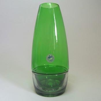Holmegaard Per Lutken Green + Smokey Glass Candleholder