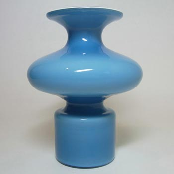 Holmegaard Carnaby Blue Glass Vase by Per Lutken